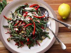 Green Bean Salad w/Red Peppers & Radishes
