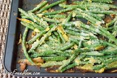 Oven-Fried Garlic Parm Green Beans