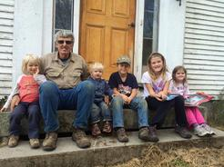 Farmer Dave and his grandchildren - Riverside Farm, North Berwick, Maine
